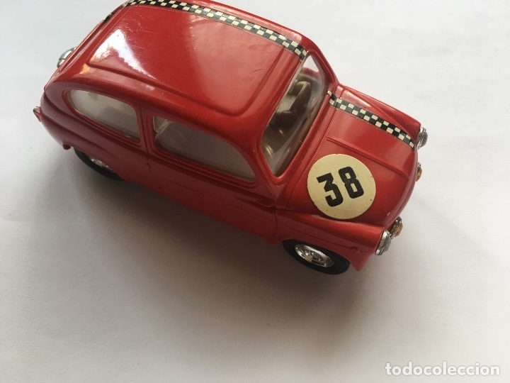 Seat 600 tc scalextric triang exin chasis rojo - Vendido