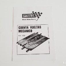 Scalextric: CUENTA VUELTAS MECÁNICO FOLLETO ORIGINAL DE EXIN. Lote 137782142