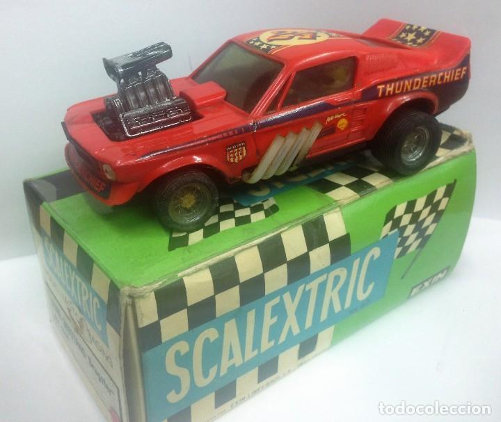FORD MUSTANG DRAGSTER ROJO CON SU CAJA ORIGINAL REF 4049 SCALEXTRIC DE EXIN (Juguetes - Slot Cars - Scalextric Exin)