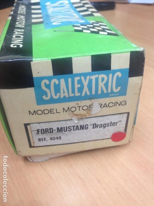 Scalextric: FORD MUSTANG DRAGSTER ROJO CON SU CAJA ORIGINAL REF 4049 SCALEXTRIC DE EXIN - Foto 10 - 138017422