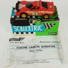 Scalextric: COCHE SCALEXTRIC. LANCIA STRATOS. REF. 4055. MADE IN SPAIN. CAJA ORIGINAL. CIRCA 1980.. Lote 139854478
