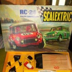 Scalextric: SCALEXTRIC RC 24 EXIN CON 2 COCHES CON MOVI COOPER Y MINI NARANJA. Lote 139859890