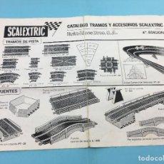 Scalextric: SCALEXTRIC - CATALOGO TRAMOS Y ACCESORIOS - 4ª EDICION EXIN-LINES BROS.S.A.. Lote 140618554