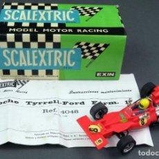 Scalextric: TYRRELL FORD ROJO SCALEXTRIC CON INSTRUCCIONES Y CAJA REF 4048 AÑOS 70 BUEN ESTADO. Lote 141662098