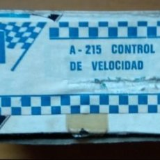 Scalextric: CONTROL MANUAL VELOCIDAD MANDO SCALEXTRIC EXIN PULSADOR PULGAR A 215 EN CAJA. Lote 142071082