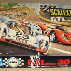 Scalextric: CONTENIDO CAJA SCALEXTRIC GT LEMANS 30 AÑOS 70. CAJA NO INCLUIDA. Lote 142764142