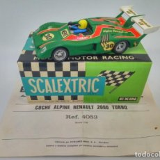 Scalextric: SCALEXTRIC EXIN ALPINE RENAULT 2000 TURBO (REF. 4053) + CAJA ORIGINAL + MANUAL DE MANTENIMIENTO. Lote 143214338