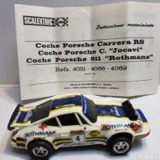 Scalextric: PORSCHE CARRERA RS REF 4051 ORIGINAL SCALEXTRIC CON GUIA. Lote 143219053