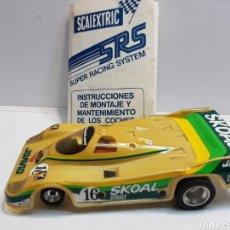Scalextric: COCHE SRS SCALEXTRIC PRIMEROS MODELOS CON GUÍA. Lote 143220478