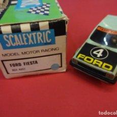 Scalextric: SCALEXTRIC EXIN FORD FIESTA. REF. 4057 EN CAJA. COLOR AZUL. TODO ORIGINAL.. Lote 144995786