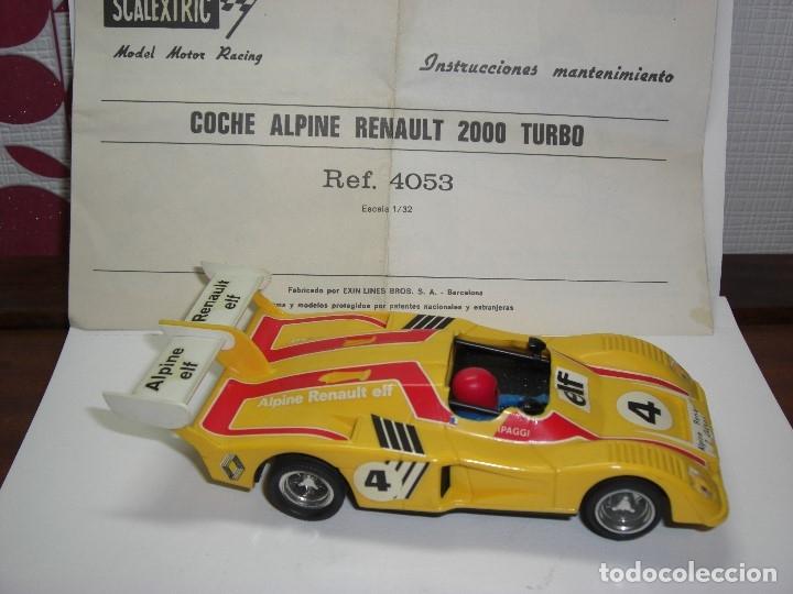 Scalextric: Exin. ALPINE RENAULT 2000 Amarillo.CON INSTRUCCIONES ORIGINALES. - Foto 5 - 134970782