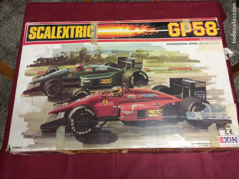 SCALEXTRIC GP 58 EXIN FERRARI SIN COCHES JUZGUEN POR FOTOS (Juguetes - Slot Cars - Scalextric Exin)