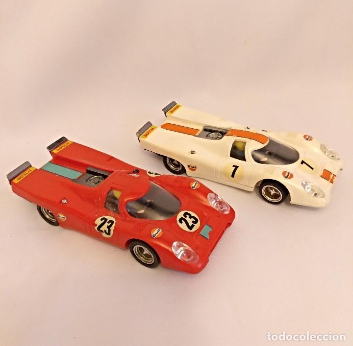 SCALEXTRI DE EXIN AÑOS 70 COCHES PORCHE 917,PISTA GTL 30 LEMANS (Juguetes - Slot Cars - Scalextric Exin)