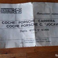 Scalextric: PORSCHE CARRERA R S / PORSCHE X. JOCAVI. Lote 150120290