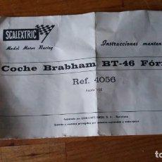 Scalextric: SCALEXTRIC BRABHAM BT- 46 FORMULA 1 INSTRUCCIONES. Lote 150121330