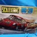 Scalextric: SCALEXTRIC RC-28 CON PORSCHE AZUL Y NARANJA. DE EXIN. Lote 150311344