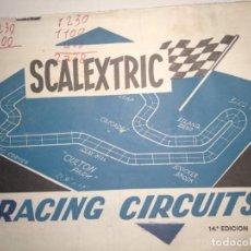 Scalextric: MANUAL SCALEXTRIC RACING CIRCUITS 14 EDICIÓN. Lote 150749226