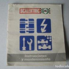 Scalextric: SCALEXTRIC. INSTRUCCIONES Y MANTENIMIENTO (AÑOS 80).. Lote 151383826