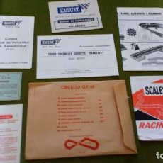 Scalextric: SCALEXTRIC EXIN SOBRE Y DOCUMENTACION GP 65. Lote 151507566
