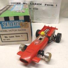 Scalextric: MCLAREN F1 REF 4043 ROJO DE EXIN SCALEXTRIC AÑOS 70, CON CAJA. Lote 151565606