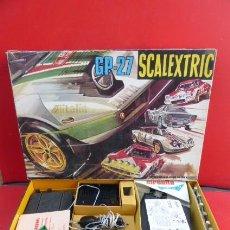 Scalextric: CIRCUITO SCALEXTRIC,,,GP-27..LOS LANCIAS STRATOS, CAJA ORIGINAL, , COCHES, DOCUMENTOS.VER FOTOS.. Lote 151966506