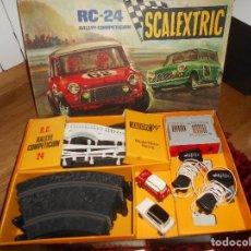 Scalextric: ANTIGUO SCALEXTRIC EXIN CIRCUITO RC 24 EN BUEN ESTADO CON LOS DOS MINIS ORIGINAL MADE IN SPAIN. Lote 151978758
