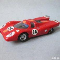 Scalextric: RARO PORSCHE 917 SCALEXTRIC EXIN DE COLOR ROJO OSCURO CON RAYA NARANJA REF. C 46. Lote 152481070
