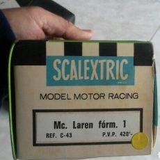 Scalextric: CAJA DE MC LAREN C-43 SCALEXTRIC EXIN. Lote 153413294