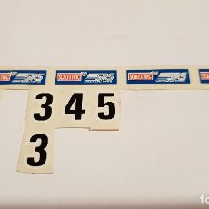 Scalextric: PEGATINAS DE SRS SCALEXTRIC EXIN. Lote 154551446