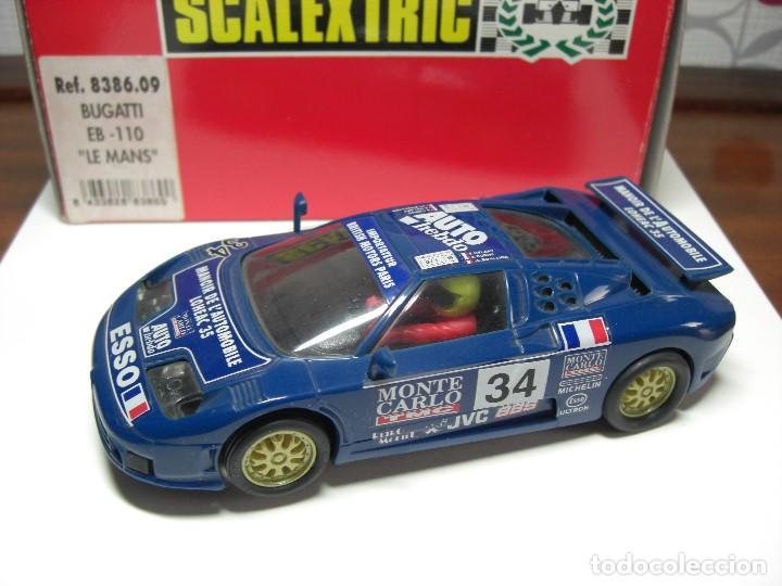 SCX. BUGATTI EB 110 LM AZUL. (Juguetes - Slot Cars - Scalextric Exin)