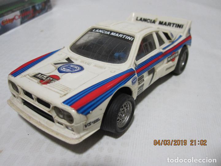 SCALEXTRIC EXIN LANCIA RALLY 037 BLANCO MARTINI FUNCIONA DESCATALOGADO (Juguetes - Slot Cars - Scalextric Exin)