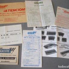 Scalextric: LOTE DE DOCUMENTACION CON SOBRE SCALEXTRIC DE LA CAJA GP 22 - BRM FORM. 1. Lote 155193602