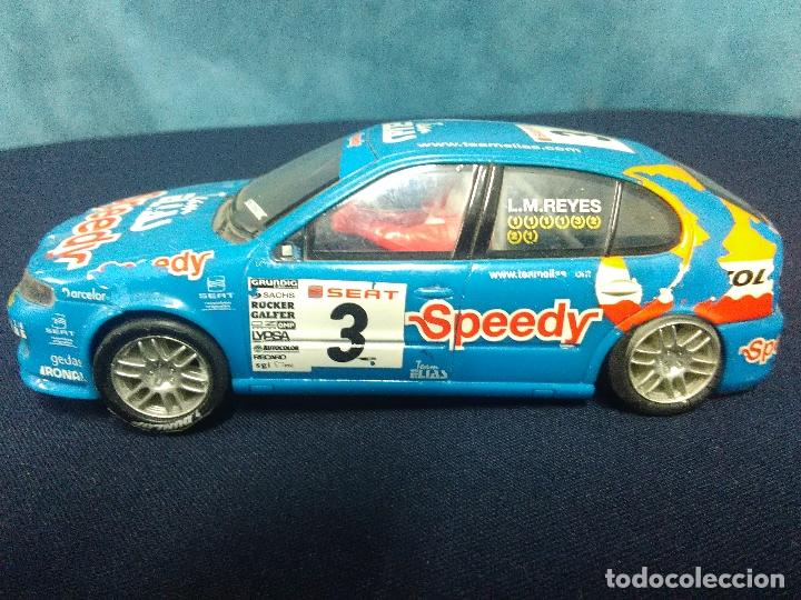 SEAT LEON SCALEXTRIC L.M. REYES (Juguetes - Slot Cars - Scalextric Exin)