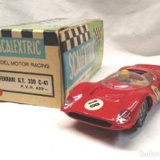 Scalextric: FERRARI 330 GT ROJO REF C 41 DE EXIN SCALEXTRIC AÑOS 70, CON CAJA DE ORIGEN. Lote 155476854