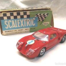 Scalextric: FORD GT REF C 35 ROJO DE EXIN SCALEXTRIC AÑOS 70, CON CAJA. Lote 156998750