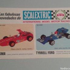 Scalextric: FOLLETO NOVEDADES SCALEXTRIC MODELOS DEL 4034 AL 4048.. Lote 157301634