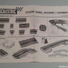 Scalextric: CATÁLOGO DE TRAMOS, ACCESORIOS Y RECAMBIOS SCALEXTRIC.. Lote 157301866