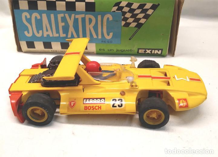 Scalextric: Sigma Ref C 47 Amarillo de Exin Scalextric con caja años 70 - Foto 3 - 157657406