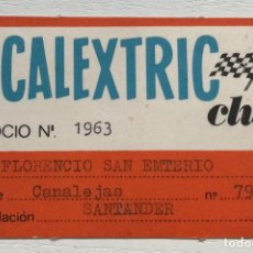 Scalextric: ANTIGUO CARNET DEL SCALEXTRIC CLUB. Lote 157814110