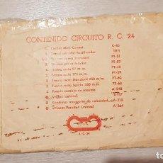 Scalextric: RC24 RC 24 SOBRE ORIGINAL DE EXIN DE CIRCUITO VACÍO SCALEXTRIC. Lote 157855074