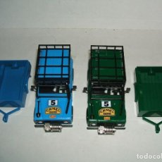 Scalextric: LOTE 2 CARROCERIAS LAND ROVER STS CON REMOLQUE. Lote 159843958