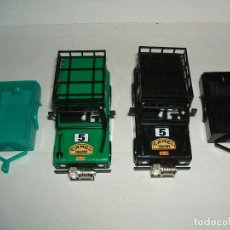 Scalextric: LOTE 2 CARROCERIAS LAND ROVER STS CON REMOLQUE. Lote 159844074