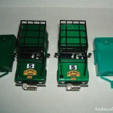 Scalextric: LOTE 2 CARROCERIAS LAND ROVER STS CON REMOLQUE. Lote 159844146