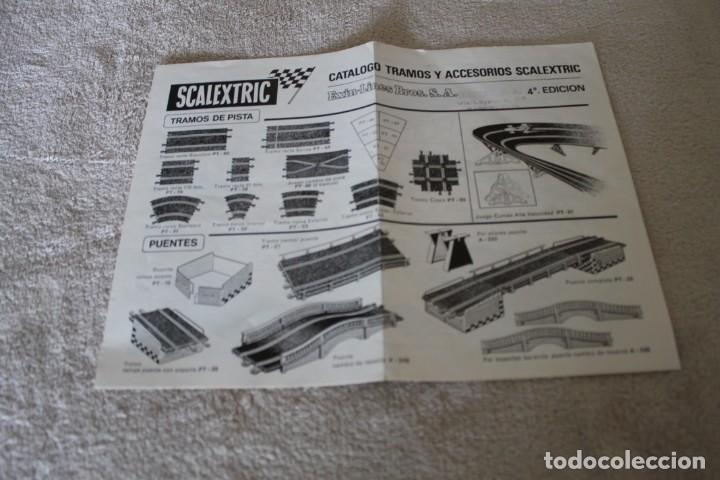 Scalextric: LOTE 4 FOLLETOS SCALEXTRIC NOVEDADES RACING CIRCUITS Y CTALOGO TRAMOSY ACCESORIOS - Foto 3 - 160024194
