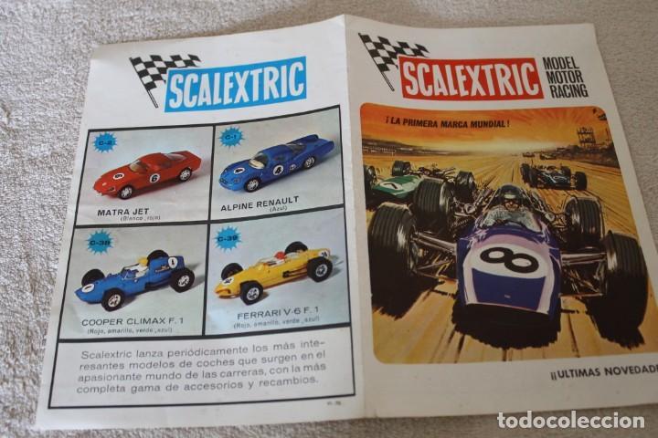 Scalextric: LOTE 4 FOLLETOS SCALEXTRIC NOVEDADES RACING CIRCUITS Y CTALOGO TRAMOSY ACCESORIOS - Foto 9 - 160024194
