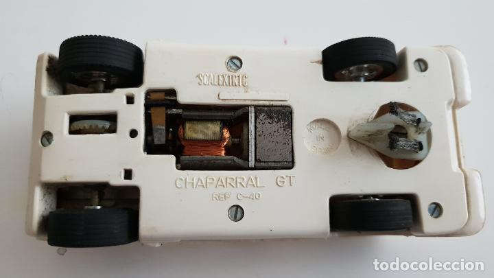 Scalextric: CHAPARRAL BLANCO ORIGINAL DE EXIN SIN ALERÓN FUNCIONANDO - Foto 8 - 160025562