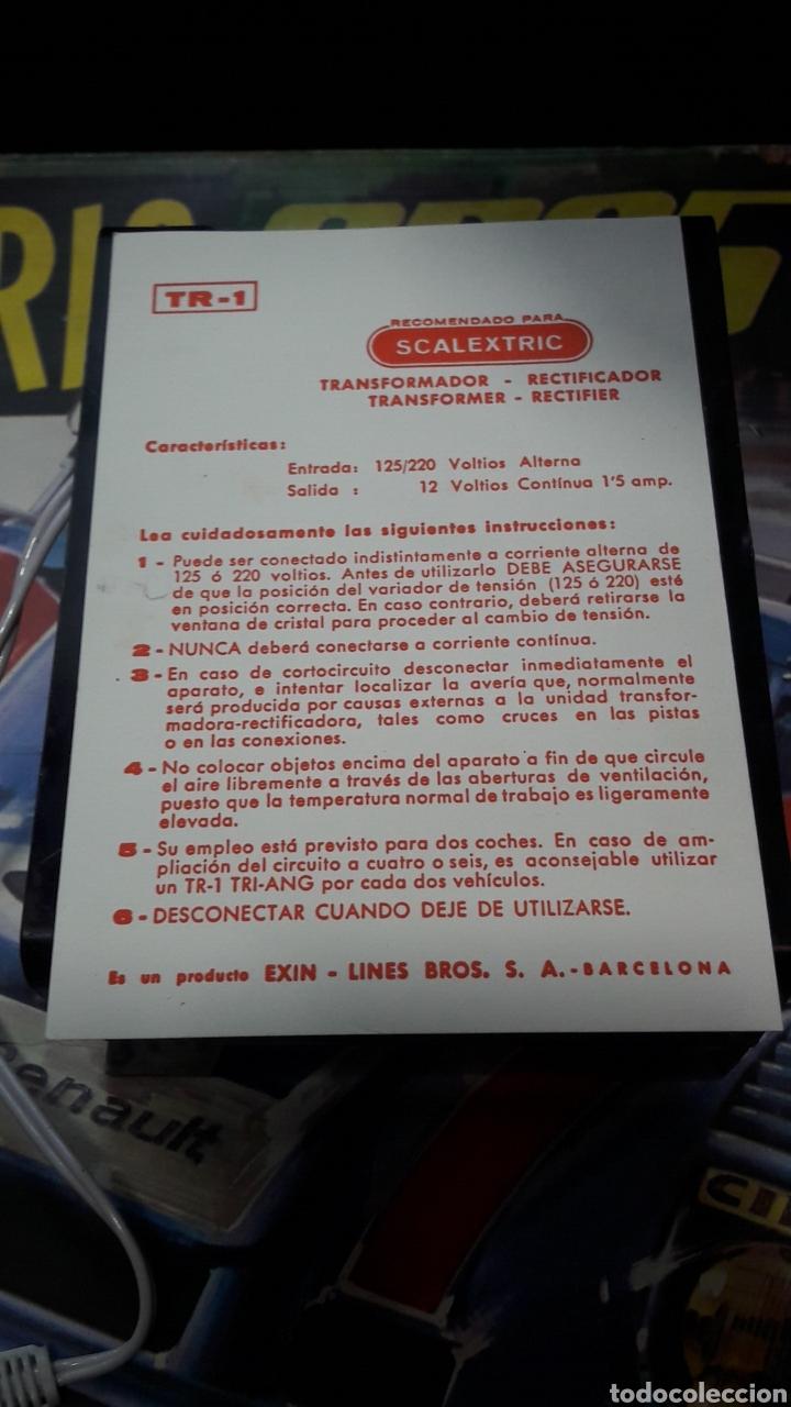 Scalextric: TRANSFORMADOR RECTIFICADOR SCALEXTRIC EXIN TR - 1 CON INSTRUCCIONES - Foto 6 - 162299422