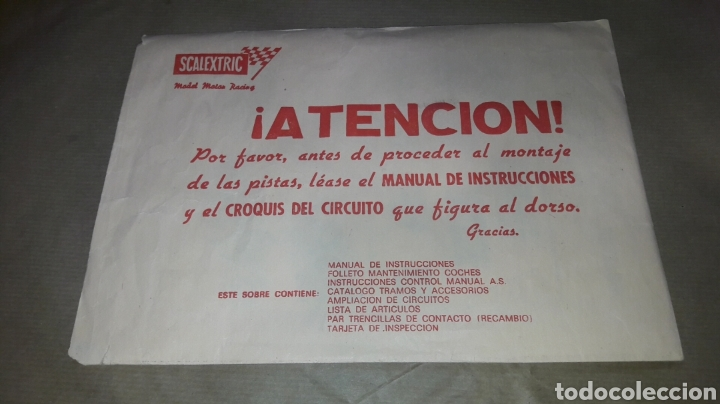 Scalextric: CAJA E INSTRUCCIONES SCALEXTRIC GP 25 EXIN - Foto 15 - 162345608