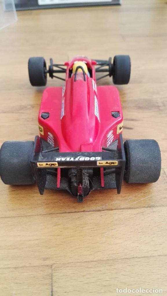 Scalextric: Coche exin Ferrari F1 87 rojo scalextric ref. nº27 falta aleron delantero Ref.8717 - Foto 3 - 162944598