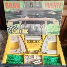 Scalextric: GRAN PUENTE AMPLIABLE SCALEXTRIC EXIN AÑOS 70. Lote 163401394